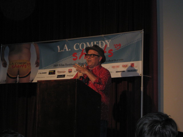 Shakes the Clown (Bobcat Goldthwait) received a special award.